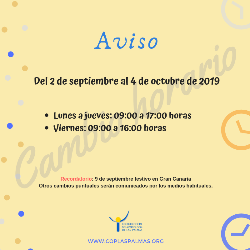 Calendario Escolar 2020 Las Palmas.Cop Las Palmas